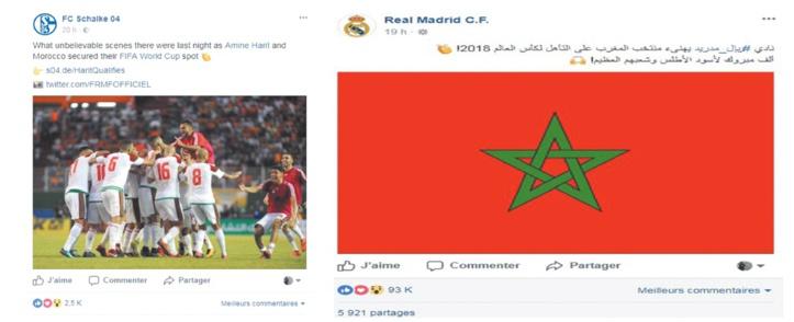 Les félicitations des clubs européens au Onze national