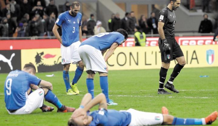 Mondial 2018: L'Italie en spectateur