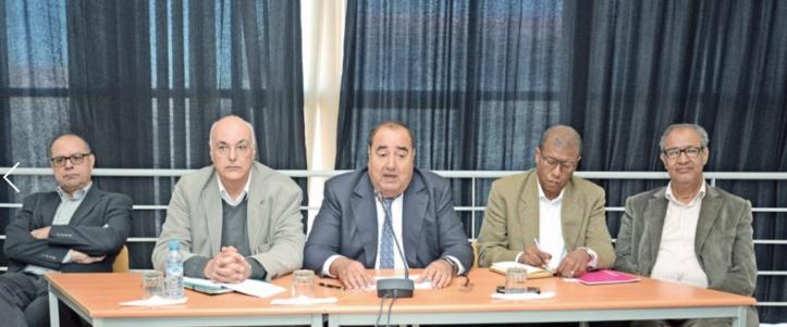 Driss Lachguar lors d'une rencontre avec les membres du secteur ittihadi de l'enseignement supérieur