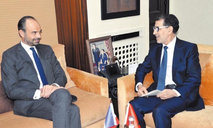 Edouard Philippe  et Saâd Eddine El Othmani.