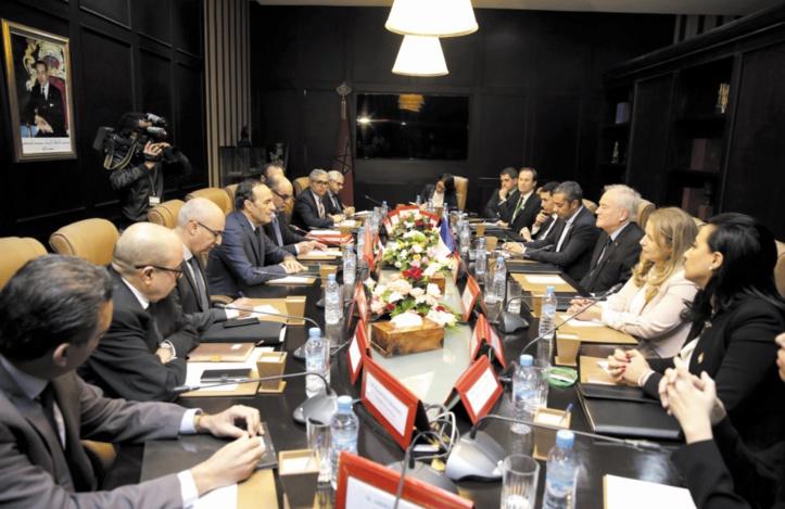 Habib El Malki reçoit le président de la Commission des A.E au Sénat français