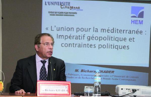 """Bichara Khader  : """"L'édification de l'UPM hypothéquée par Israël"""""""