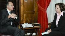 Visite d'une délégation française présidée par Mme Anne-Marie Idrac Secrétariat d'Etat français au Commerce extérieur