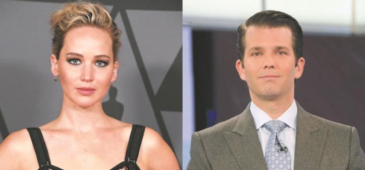 Le tweet ambigu de Trump Jr à l'attention de Jennifer Lawrence