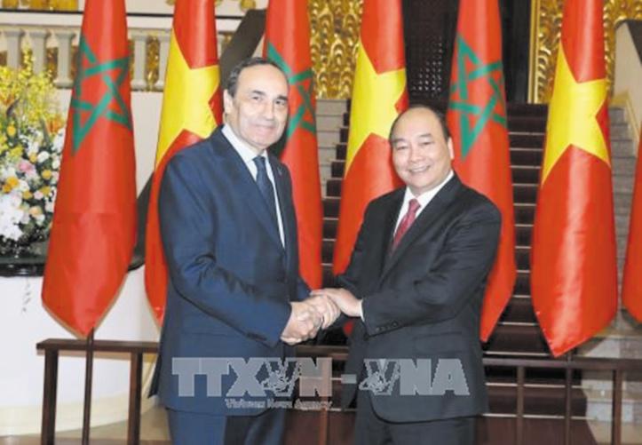Le président de la Chambre des représentants et le Premier ministre vietnamien.