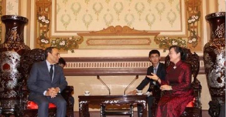 Habib El Malki s'entretient avec la présidente du Conseil populaire de Ho Chi Minh-Ville
