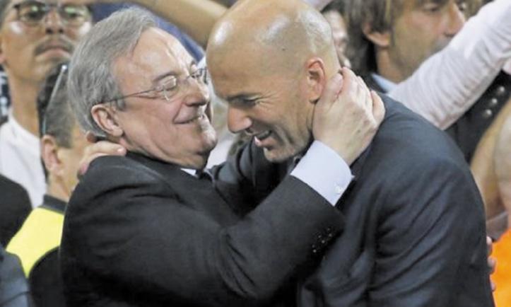 Pérez fier des succès de Zidane