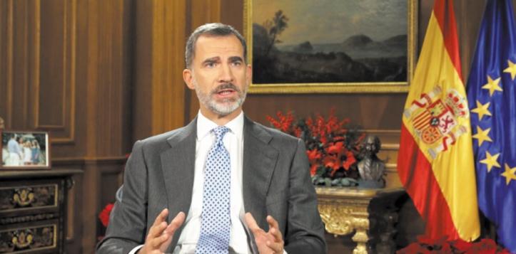 Le roi d'Espagne demande aux élus catalans d'éviter un nouvel affrontement