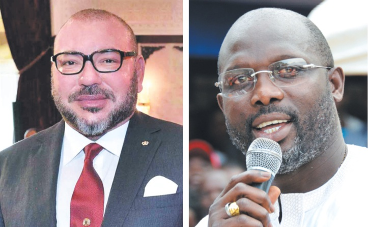 S.M le Roi félicite le Président du Libéria : Entretien téléphonique entre le Souverain et George Weah
