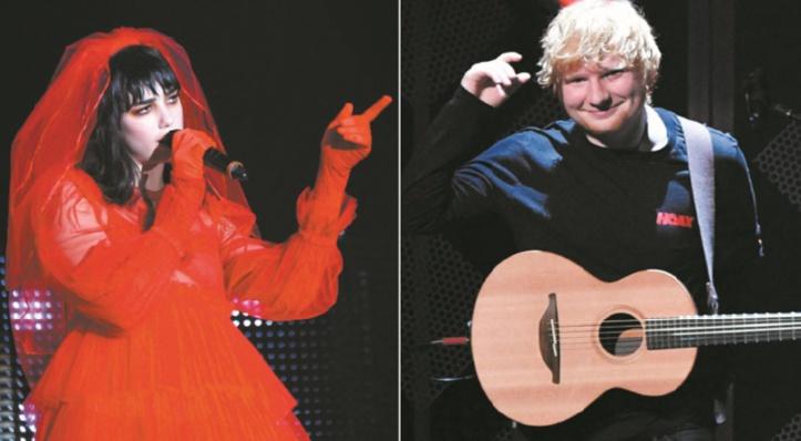 Ed Sheeran et Dua Lipa dominent les nominations pour Brit Awards