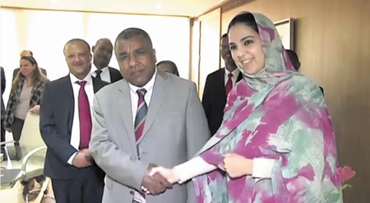 Rkia Derham reçoit le ministre éthiopien des Entreprises publiques