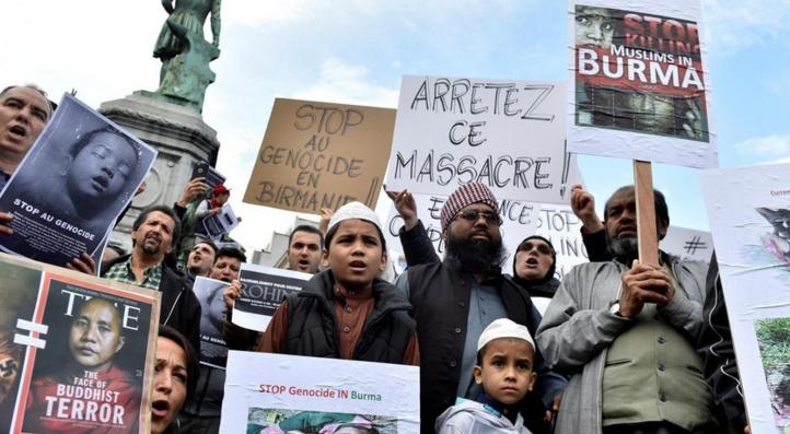 Manifestation de Rohingyas contre le programme de retour