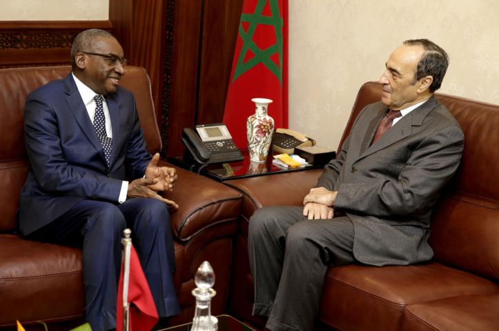 Le président de la Chambre des représentants et Sidiki Kaba.