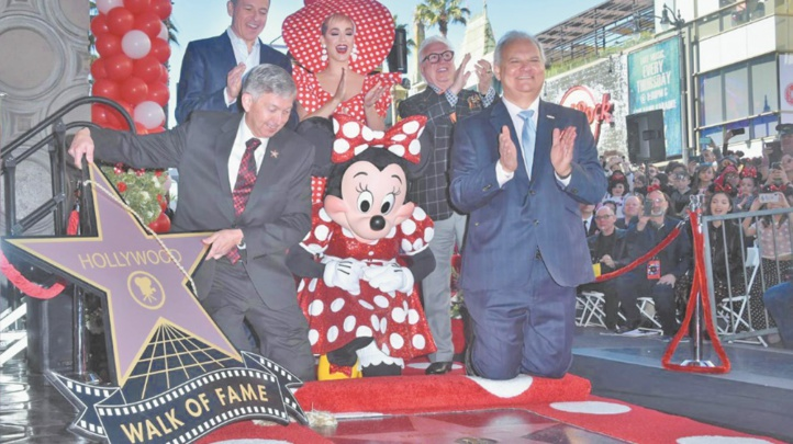 Minnie reçoit une étoile à Hollywood, 50 ans après Mickey