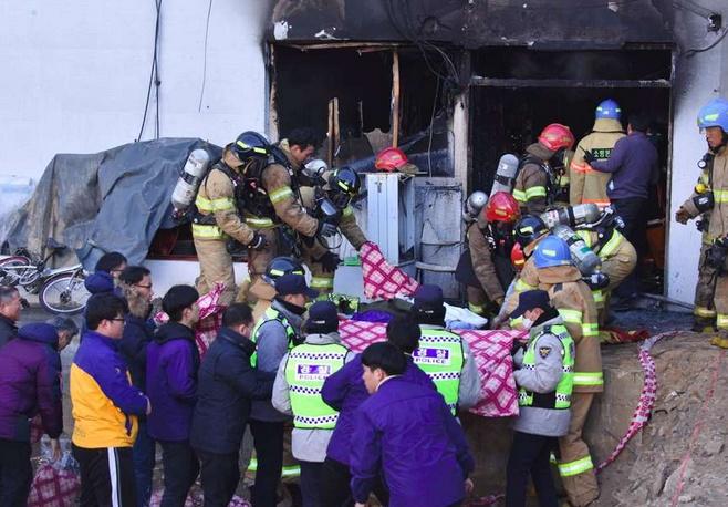 Une quarantaine de morts dans l'incendie d'un hôpital sud-coréen
