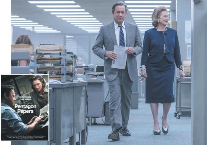 """Pentagon Papers"" Meryl Streep et Tom Hanks dirigés par un Spielberg inspiré"