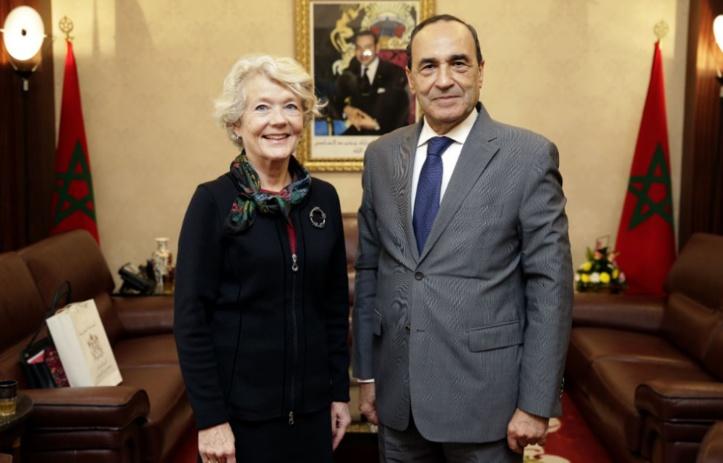 Habib El Malki s'entretient avec la nouvelle ambassadrice de Norvège à Rabat