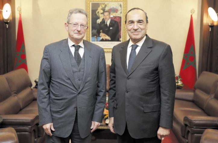 Le président de la Chambre des représentants  reçoit le nouvel ambassadeur de Belgique
