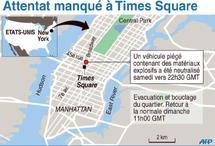 Attentat manqué de Time Square : Un suspect interpellé à New York et cinq au Pakistan