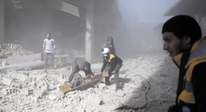 Des civils évacués de la Ghouta orientale