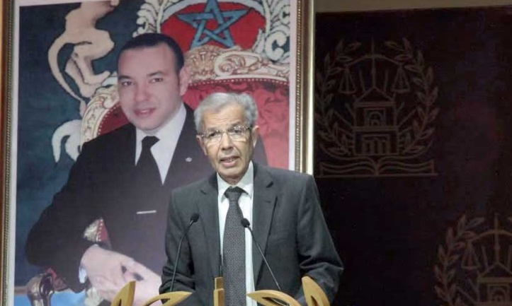Abdellatif Menouni donnant lecture du message Royal