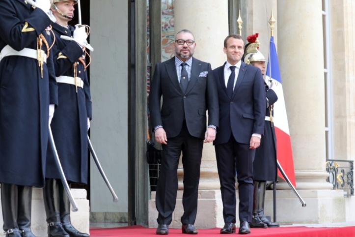 S.M le Roi reçu à l'Elysée par le Président français : Un partenariat basé sur la confiance, le respect mutuel et la coopération fructueuse