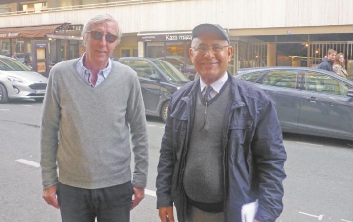 Christian Feucher et Mustapha Jmahri à Paris le 8 avril 2018.