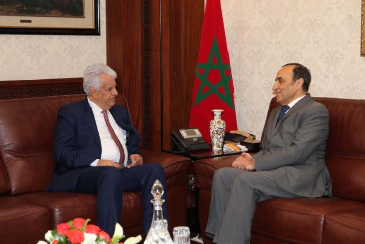L'ambassadeur de la Palestine salue la position de S.M le Roi dans la défense de la Ville Sainte