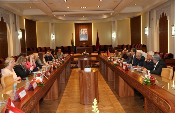 Habib El Malki reçoit une délégation de députées et de femmes d'affaires de Lituanie