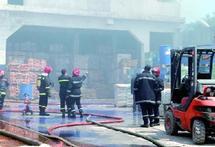 Casablanca : Incendie dans une usine chimique