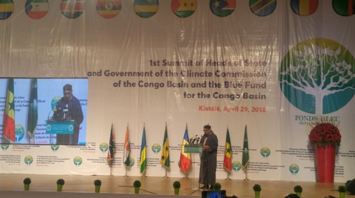 S.M le Roi Mohammed VI devant le Sommet de la Commission climat et du Fonds bleu du Bassin du Congo