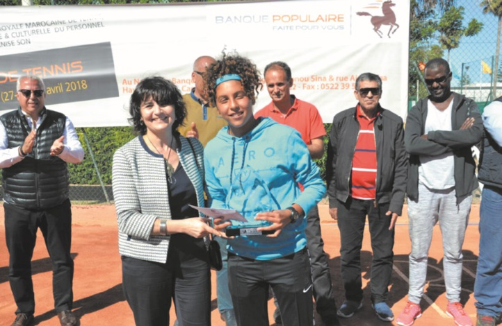Sara Akid et Amine Ahouda s'imposent à l'Open de tennis de la Banque populaire