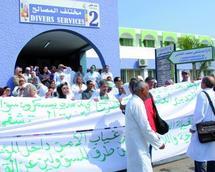 Sit-in de protestation devant l'Hôpital Mohammed V : Les blouses blanches broient du noir