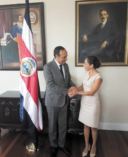 Habib El Malki s'entretient avec la présidente de l'Assemblée législative du Costa Rica