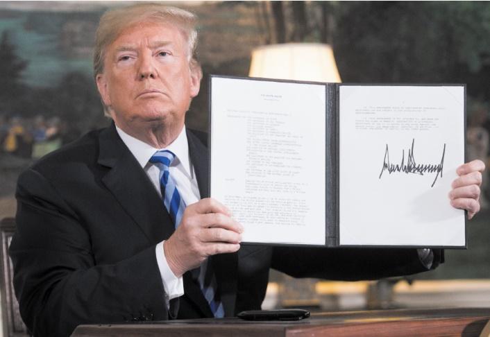 Trump claque la porte de l'accord nucléaire iranien