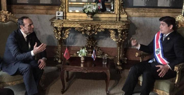 Le chef d'Etat costaricain reçoit le président de la Chambre des représentants