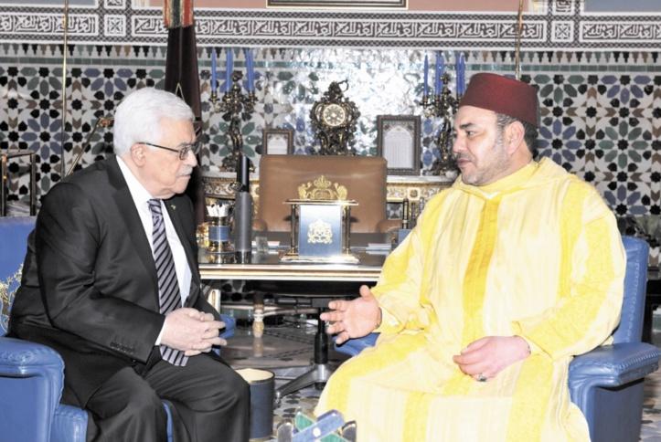 Entretien téléphonique entre S.M le Roi et le président Mahmoud Abbas