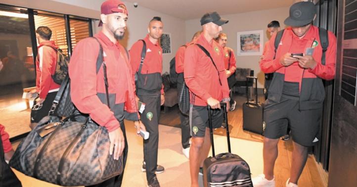 L'équipe nationale à son arrivée à l'aéroport de Genève.      Ph. frmf.ma