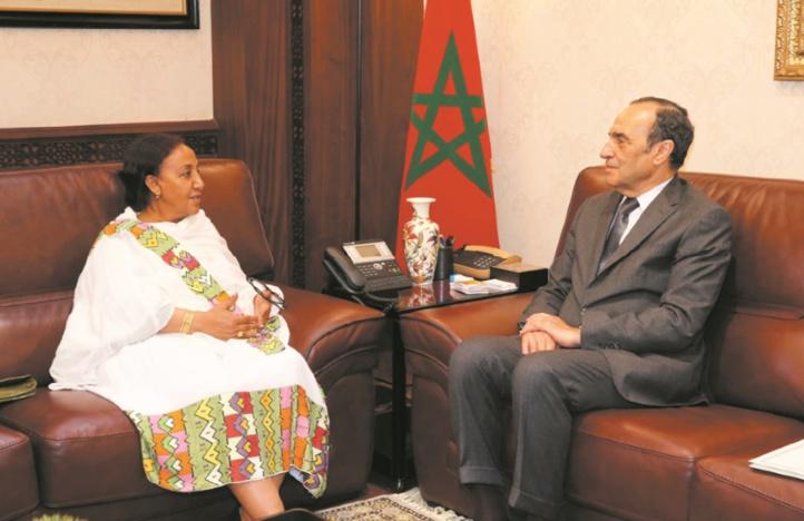 Habib El Malki s'entretient avec l'ambassadrice d'Ethiopie