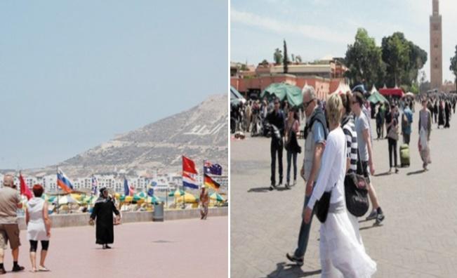 Marrakech et Agadir, destinations préférées des touristes depuis le début de l'année