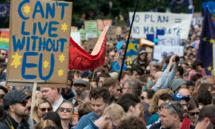 Des milliers de manifestants réclament un second vote sur le Brexit
