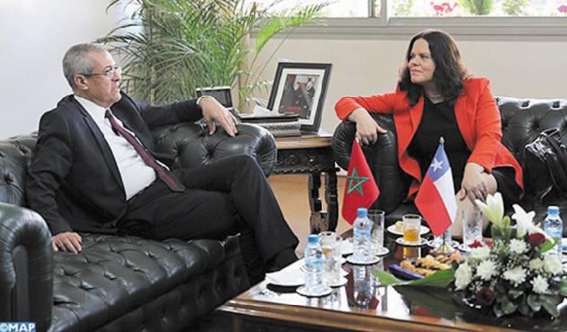 Visite à Rabat de Maya Fernández Allende : Mohamed Benabdelkader s'entretient avec la présidente de la Chambre chilienne des députés