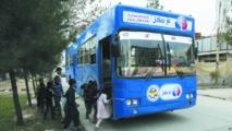 Une bibliothèque ambulante  au service des enfants de Kaboul