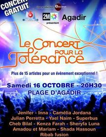 6ème édition du Concert pour la tolérance à Agadir : La capitale du Souss à nouveau en scène