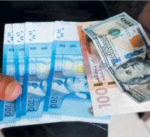 Le dirham s'apprécie  de 0,45%  vis-à-vis du dollar