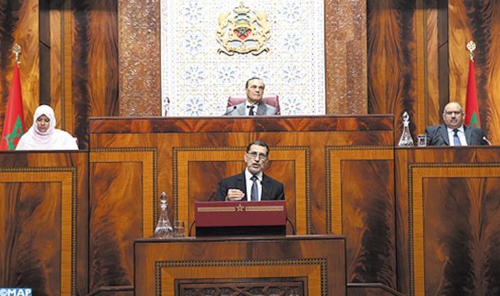 Saâd Eddine El Othmani lors de la séance mensuelle relative à la politique générale à la Chambre des représentants
