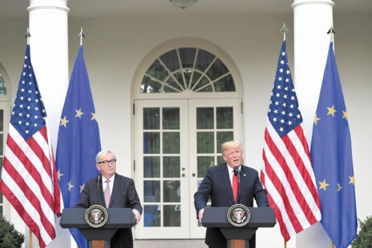 Trump et Juncker désamorcent la crise entre Washington et Bruxelles