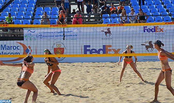 Agadir à l'heure  du World tour de beach-volley