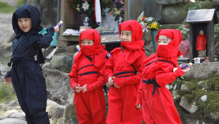 Insolite : Apprentis ninjas !