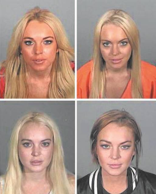 Quand les stars se font tirer le portrait en prison !  Lindsay Lohan